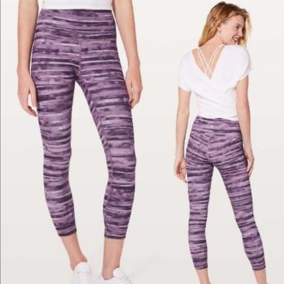 lululemon athletica Pants - Lululemon Wunder Under HR 7/8 Tight 6 Mulberry New